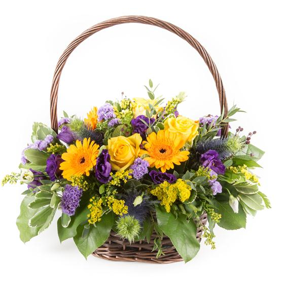 Purple & Gold Basket